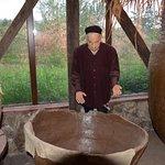 Qvevri wine museum - building up the qvevri - wine fermentation vessel