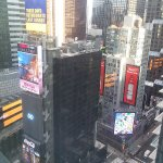 view of Times Square from the room