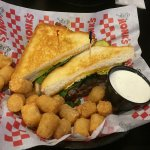 Monks - Lake Delton, Wisconsin - Breakfast Burger and Tater Tots