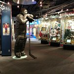 Displays near front entrance and Ken Dryden statue