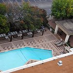 View of the pool from the 11th floor room.
