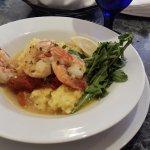 Fresh North Carolina shrimp with grits