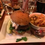 The Juniper Elk Burger with Chicken Chili