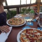 Lobster pizza & Indian pizza at Sundowner - highly recommended!