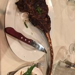 """32 oz """"tomahawk"""" with beans"""