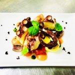 Octopus salad,,,