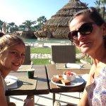 Having Breakfast by the pool