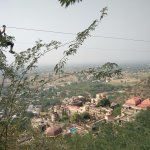Neemrana zip lining..hotel in background