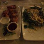 Chicken Wings and Butternut Squash Ravioli