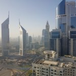 View from business centre: higher is better for rooms
