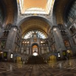 The interior of this railway cathedral