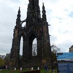 view from Princes street footpath