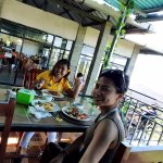lunch with the view of lake batur