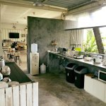 Cooking area, full of kitchenware and ready to cook
