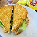 grilled chicken salad sandwich with vidalia dressing