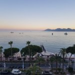 Cannes at down, from the room