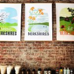 Locally made posters celebrating the seasons of The Berkshires
