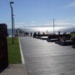 sun loungers & jetty