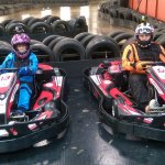 Me and Ami in the go karts at Crawley!