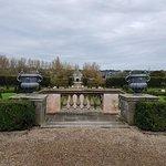 Overlook of the formal walled garden