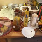 Some of the breakfast cereals and cheeses