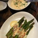 Asparagus and lobster mashed potatoes