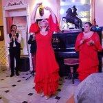 flamenco show aan tafel