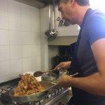 Gianluca's cooking demonstration