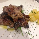 Lamb with roasted potatoes. My wife said that the lamb was so good it tasted like beef.