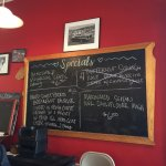 Daily specials (some go quickly, so get here early if you want one.)