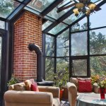 Sunny solarium on top floor penthouse