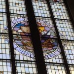 The Speedwell stained glass