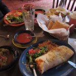 Our lunches - stuffed sopapilla/calabacita
