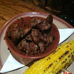 Chicken livers...perfectly cooked!!