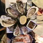 3 types of oysters in the hotel restaurant