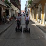 My wife and I taking Cesar's Segway tour of the Old City in Cartegna