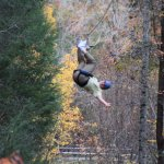 Hanging out at Foxfire Mountain Zip LInes