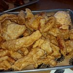 Pork Rinds with pimento cheese