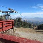 Ski area at top