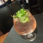 Cranberry & mint soda