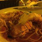 Lobster over pasta