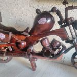The wooden Harley I bought from Sukawati market