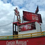 The Captain Morgan towering board