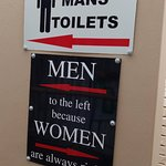 Interesting board at the washroom