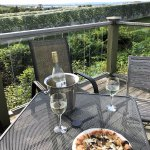 In the vineyards, a few steps from the Inn, is a patio with a lovely view.