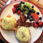 Breakfast choice - salmon benny