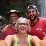 Here we are with Ricky at Wailua Falls! What fun!