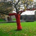 knitted poppy tree