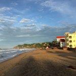 Playa Zipolite looking west at sunrise