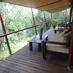 Deck overlooking the river